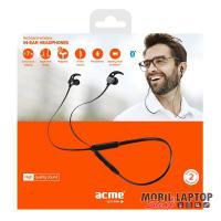 ACME BH107 fekete Bluetooth nyakpántos fülhallgató headset
