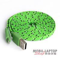 Adatkábel Apple iPhone 5 / 6 / 6S / SE / 7 és iPad Air / Mini lightning zöld