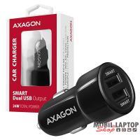 Axagon PWC-5V5 2.4A + 2.4A fekete autós töltő