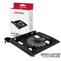 """Axagon RHD-P25 3,5""""vagy PCI slotba 2x2,5"""" fekete SSD / HDD beépítő keret"""