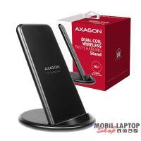 Axagon WDC-S10D kettős tekercsű wireless fekete QI töltő okostelefonhoz