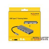 Delock 87743 USB Type-C 4K - HDMI / Hub / SD / PD 2.0 mobil eszközökhöz dokkoló állomás