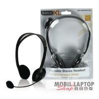 Headsett BasicXL fekete BXL-HEADSET1BL