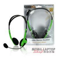 Headsett BasicXL zöld BXL-HEADSET1GR