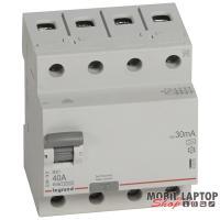 Legrand 402075 RX3 40A A 30mA 4 pólusú áram-védőkapcsoló