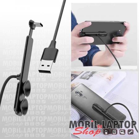 Adatkábel univerzális USB Type-C fekete 1,2m hoco. U51 mobil játékhoz