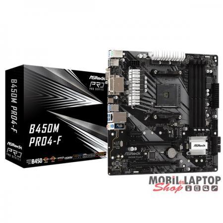 ASRock B450M PRO4-F AMD B450 SocketAM4 mATX alaplap