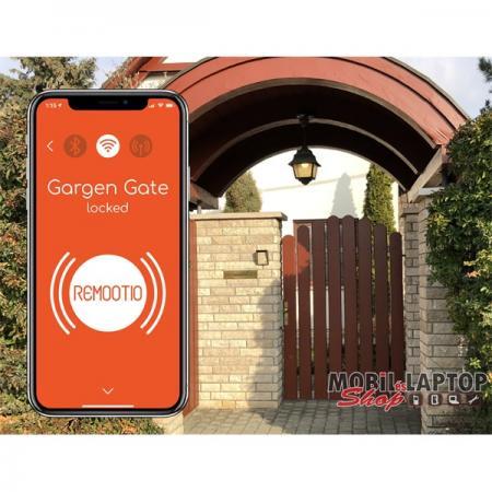 Remootio okostelefon és okosotthon vezérelt Wi-Fis és Bluetoothos kapunyitó 20 kulcsos+vendégkulcsok